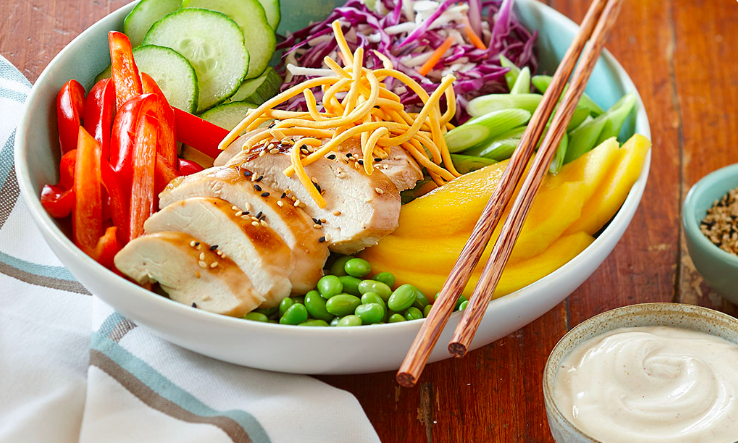 Asian chicken sesame chopped salad recipe