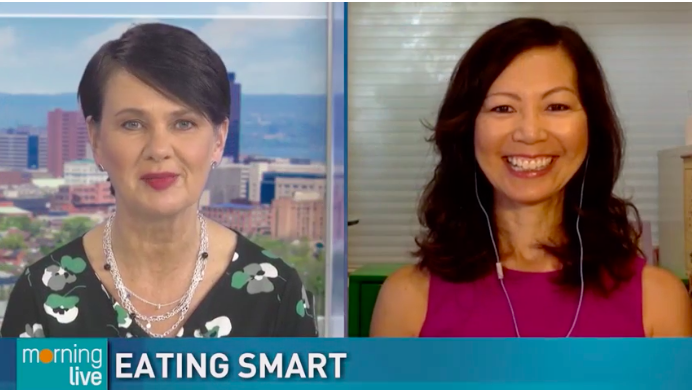 TV host Annette Hamm speaking to dietitian Sue Mah