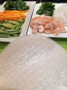 Shrimp Rice Rolls ingreds