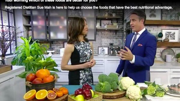 Registered Dietitian Sue Mah quizzes TV host Ben Mulroney on which foods have the best nutritional advantage.