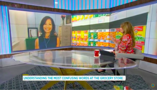 Dietitian Sue Mah speaking to TV host Lindsey Deluce