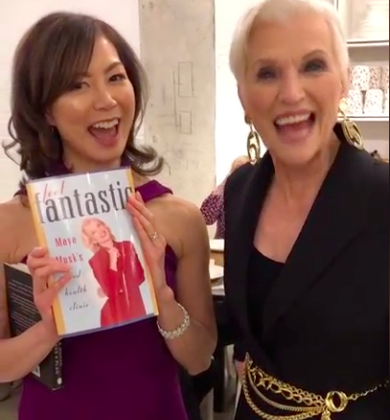 Sue Mah dietitian with supermodel Maye Musk
